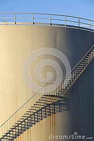 Stairs on storage tank
