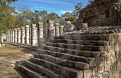 Stairs at the Temple of the Warriors, Chichen Itza