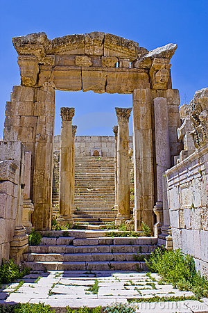 Stairs to artemus temple