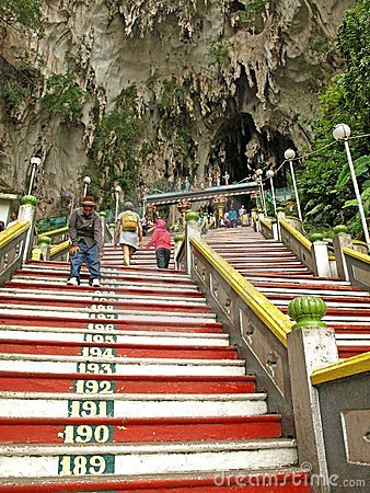Stairs to Batu Caves Temple Editorial Photo
