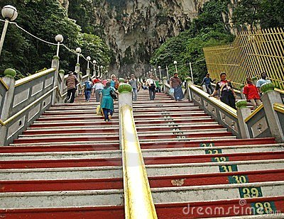 Stairs to Batu Caves Temple Editorial Photography