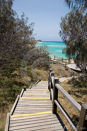 Stairs to the Champagne Pools, Fraser Island