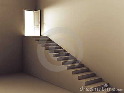 Stairs to door of light