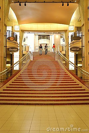 The stairs to the Kodak Theatre in Hollywood Editorial Stock Photo