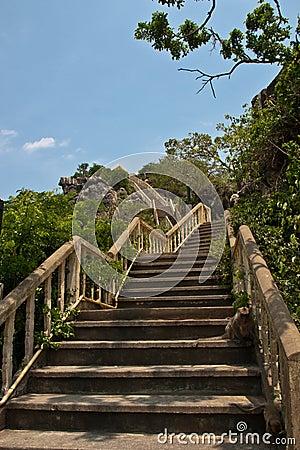 Stairs to the prachuap khiri khan