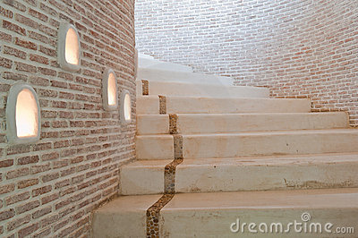 The stairs to the second floor.