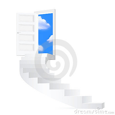 Free Stairs To Sky. Royalty Free Stock Photography - 13194127