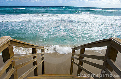 Stairs to Tropical Beach