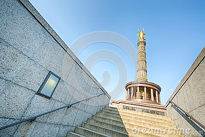 Stairs of a tunnel leading to the Berlin Victory Column