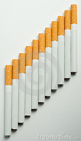 Stairway of cigarettes