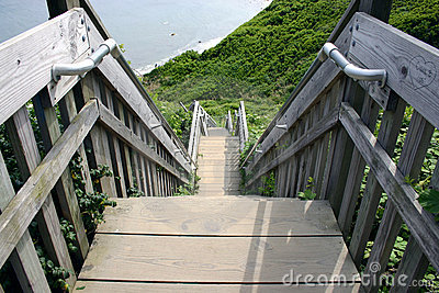 Stairway down the bluffs