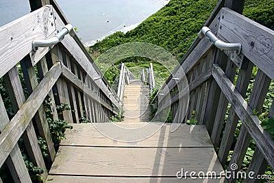 Stairway down the bluffs