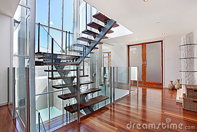 Stairway in loft