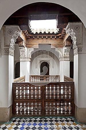 Stairway in the Medersa ben Youssef