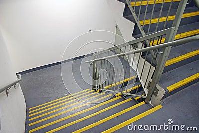Stairway in modern building
