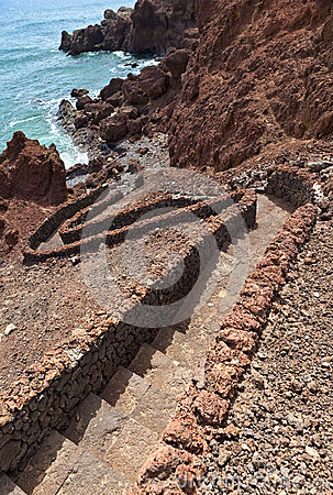 Stairway by the ocean, El Golfo, Lanzarote