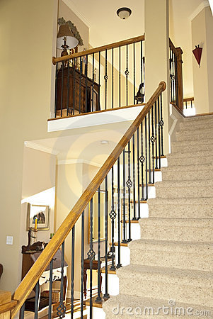 Free Stairway Of Modern Home Royalty Free Stock Photos - 6661998