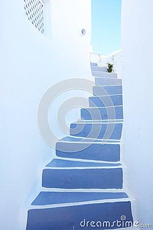 Stairway at santorini,greece