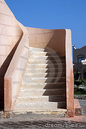 Stairway  and sky