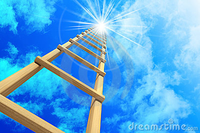 Stairway in sky