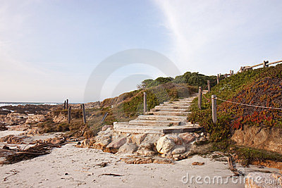 Stairway to a beach in California
