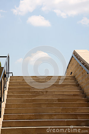 Stairway to the blue sky