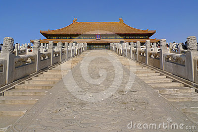 The stairway to the Hall of Supreme Harmony