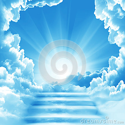 Free Stairway To Heaven.Stairs In Sky. Stock Photos - 91862193