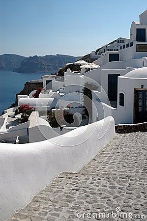 Free Stairway To Hotels Santorini Royalty Free Stock Photos - 1301678
