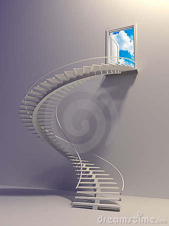 Stairway To The Sky Stock Image - Image: 10634121