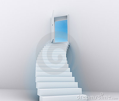 Stairway to the sky - concept.