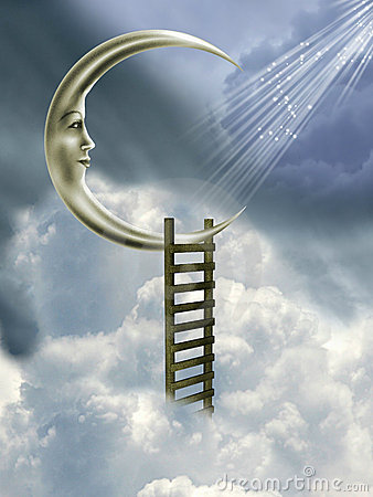 Free Stairway To The Moon Royalty Free Stock Image - 6134166