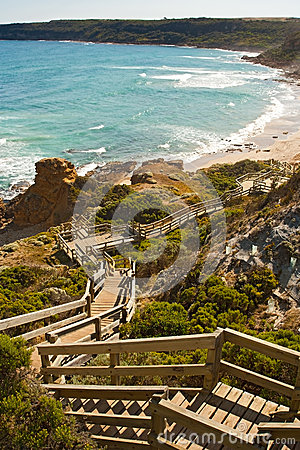 Free Stairway To The Ocean Royalty Free Stock Image - 44215316