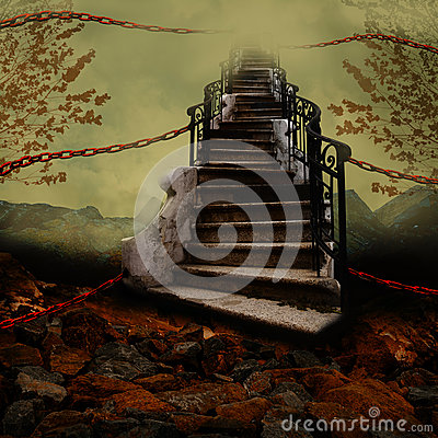 Free Stairway With Chains Stock Photo - 44368180