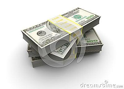 Stake of dollars