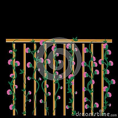 Staket staket rosor : Staket Med Rosor Vektor Illustrationer - Bild: 48390375