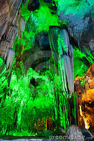 Stalactites in the cave