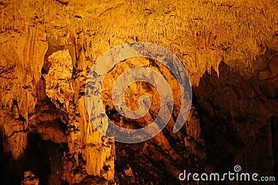 Stalactites, stalagmites