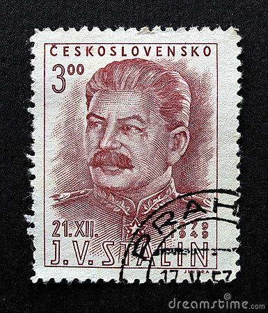 Stalin on Czechoslovakia stamp