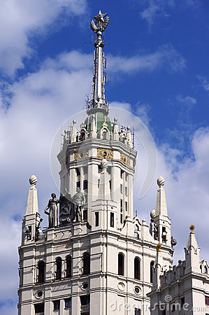 Stalin s building in Moscow, Russi