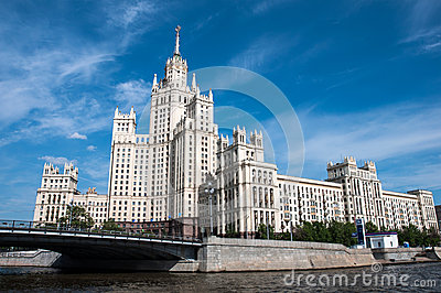 Stalin s house in Moscow, landmark Editorial Photography