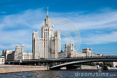 Stalin s house in Moscow, landmark Editorial Stock Photo