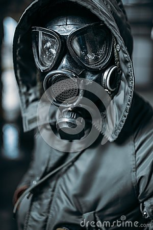 Free Stalker In Gas Mask, Radiation Danger Royalty Free Stock Image - 109658356