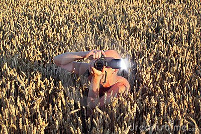 Stalker paparazzi photographer