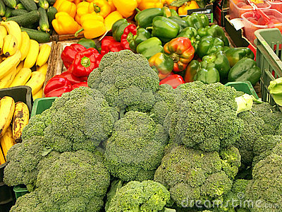 Stall with veggies