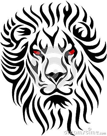 Stammen leeuw