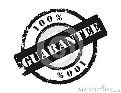 Stamp 100 Guarantee Royalty Free Stock Photo