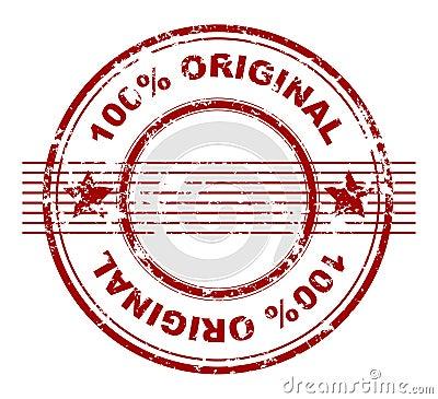 Stamp with 100  original