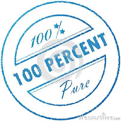 Stamp 100  pure