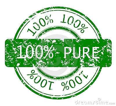 Stamp with 100  PURE